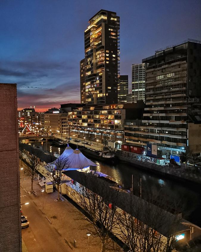 Ausblick aus dem Hotel in Rotterdam